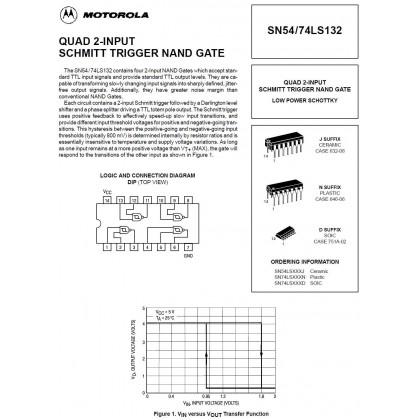 DM74LS132N / 74LS132 ( QUAD 2-INPUT SCHMITT TRIGGER NAND GATE )