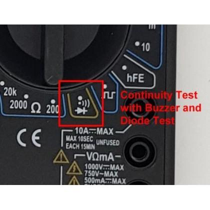 3.5 DIGIT 8-FUNCTION DIGITAL MULTIMETER WITH SQUAREWAVE GENERATOR, DT830D, FREE 9V BATTERY
