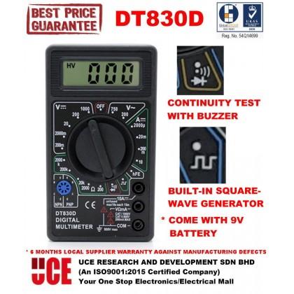 3.5 DIGIT 8-FUNCTION DIGITAL MULTIMETER with SQUAREWAVE GENERATOR, DT830D
