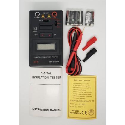 DIGITAL INSULATION TESTER, BELOW 1kV, ST-2550