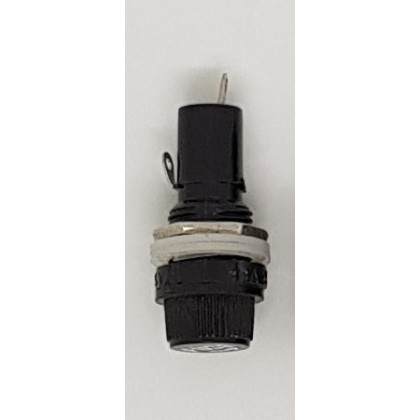 PANEL MOUNT FUSE HOLDER, 250V/10A, MOUNTING HOLE 12MM, SUITABLE FOR 5 x 20MM FUSE