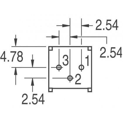 FINGER ADJUST PRESET / TRIMMER, 5kΩ, 3386P