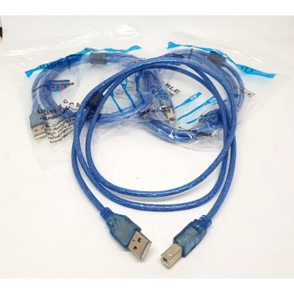 1.5M USB 2.0 PRINTER CABLE MALE A-B TYPE FOR PRINTERS / ARDUINO / OMRON CP1E/CP1H/CP1L SERIES PLC