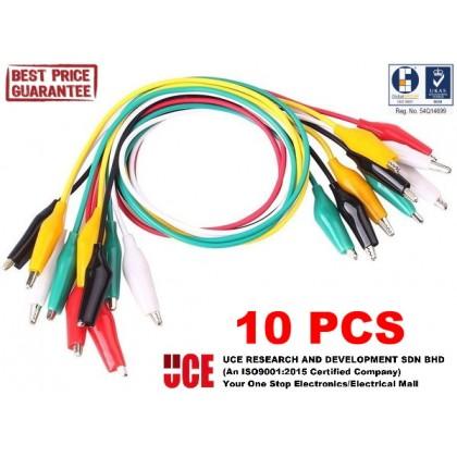10 PCS / 5 PCS CROCODILE / ALLIGATOR CLIP TEST WIRES / CABLES 50CM, DOUBLE ENDED (10 PCS / PACK OR 5 PCS / PACK)