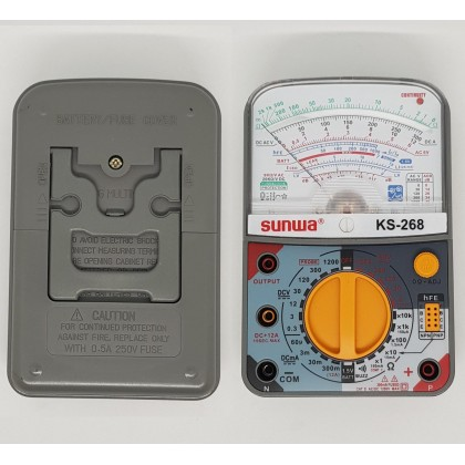 ORIGINAL SUNWA HIGH PERFORMANCE PROFESSIONAL ANALOG MULTIMETER / MULTITESTER KS-268