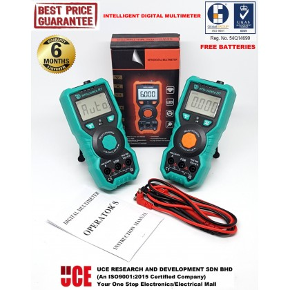 INTELLIGENT AUTO RANGING TRUE RMS DIGITAL MULTIMETER 6000 COUNTS