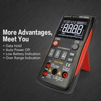 ZOTEK / ZOYI ZT-X HIGH PRECISION 9999 COUNTS INTELLIGENT AUTO RANGING TRUE RMS DIGITAL MULTIMETER
