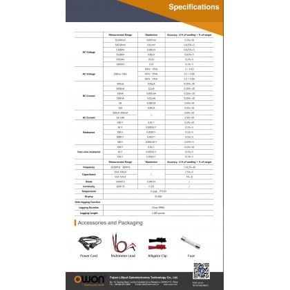 OWON XDM2041 HIGH PRECISION TRUE RMS BENCH TYPE DIGITAL MULTIMETER