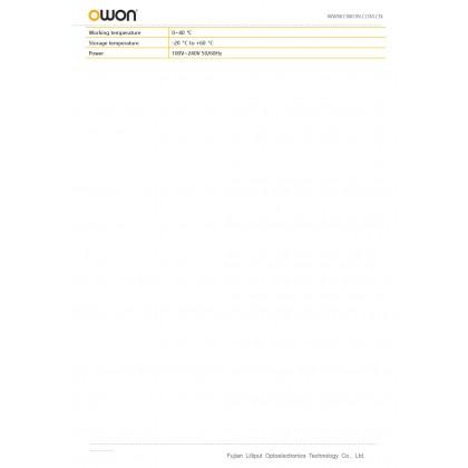 OWON XSA1000TG SERIES 9KHZ-1.5GHZ, 9KHZ-3.2GHZ, 9KHZ-3.6GHZ PORTABLE SPECTRUM ANALYZER WITH TRACKING GENERATOR