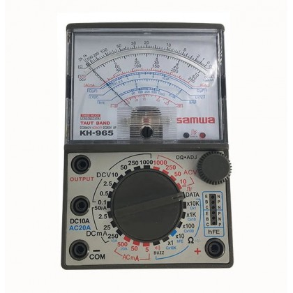 SAMWA HIGH PERFORMANCE ANALOG MULTIMETER / MULTI TESTER WITH BUZZER KH-965 TAUT BAND SUSPENSION MOVEMENT SYSTEM FREE BATTERIES